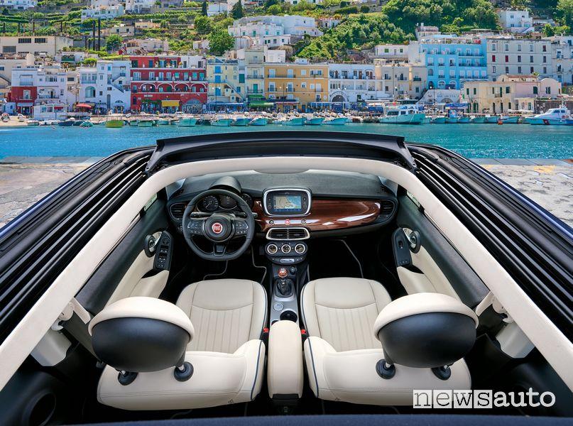 Fiat 500X Yachting cockpit