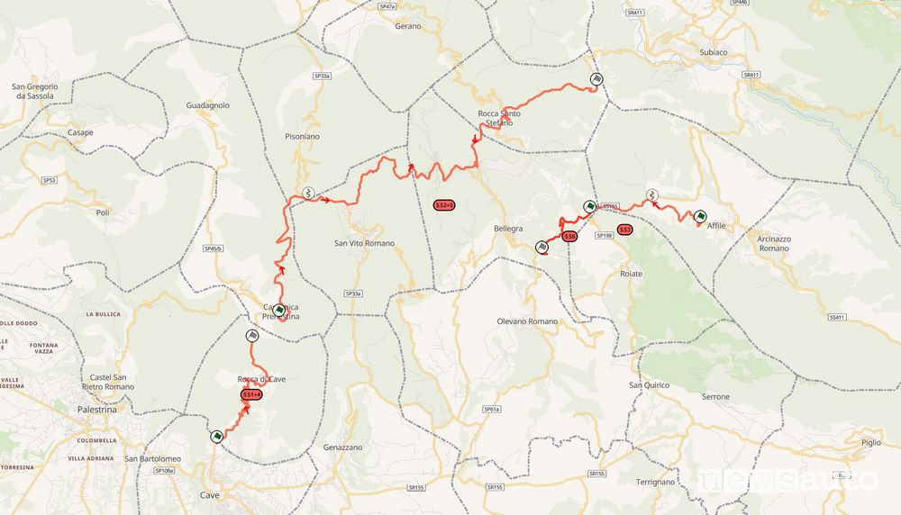 Rome Rally Map 2021 special stages scheduled for Saturday 24 July
