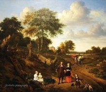 Couple in a Landscape by Adriaen van de valde
