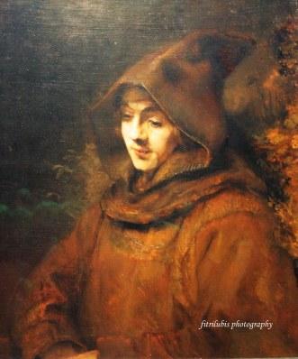 Rembrandt's Son Titus in Monk's Habbit by Rembrandt
