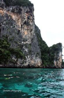 Swimming in Indian Ocean. Location: Phi phi islands, Thailand