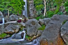 Air Terjun Janji, or in English called Promise Waterall. This water fall is located next to the road, in one of sub districts in Balige.
