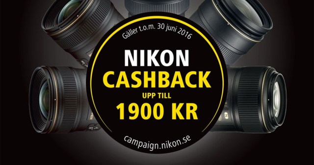 Nikon Cashback 2016