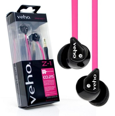 Veho Z-1 Pink - rosa hörlurar till förmån för Bröstcancerfonden och Rosa Bandet