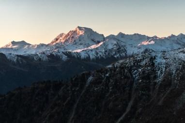 Sonnenaufgang auf dem Berg