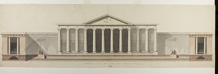 Project For City Hall And Court House In Roman Style