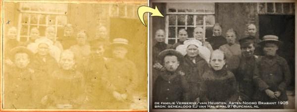 heritage, stamboom, beschadigde foto