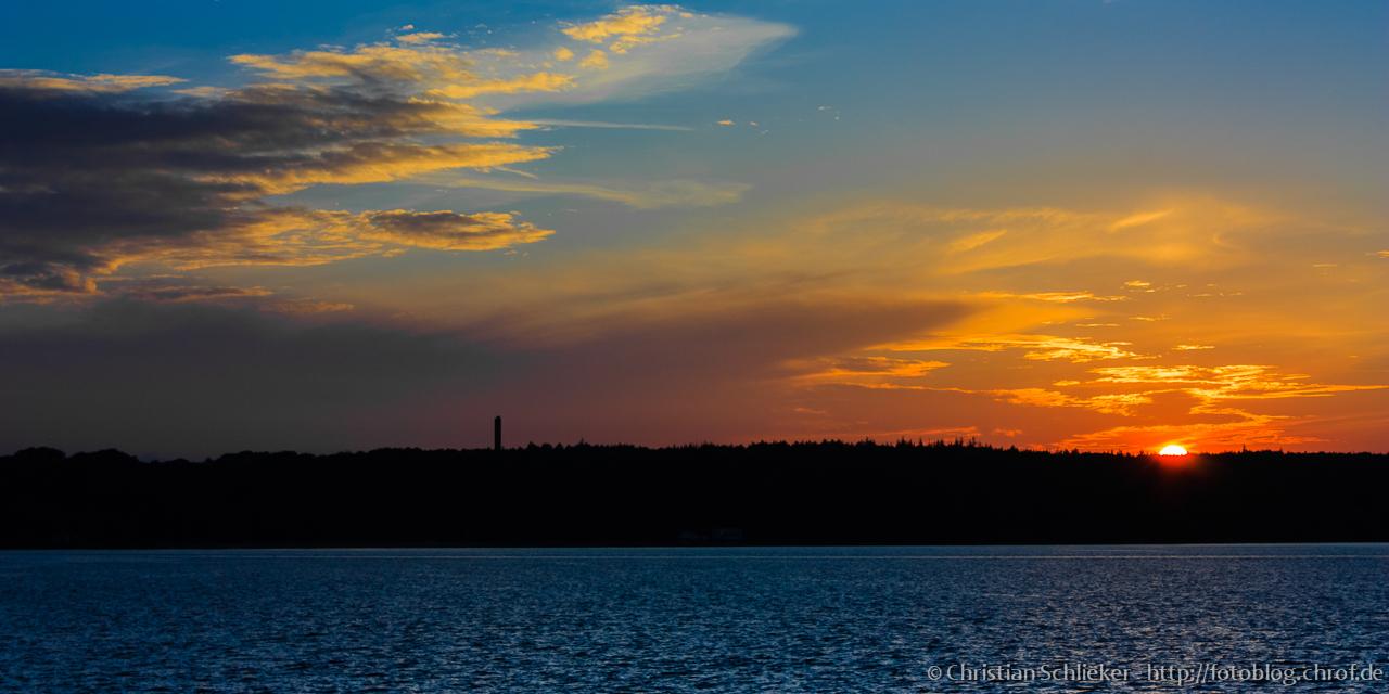 Sonnenuntergang Wassersleben