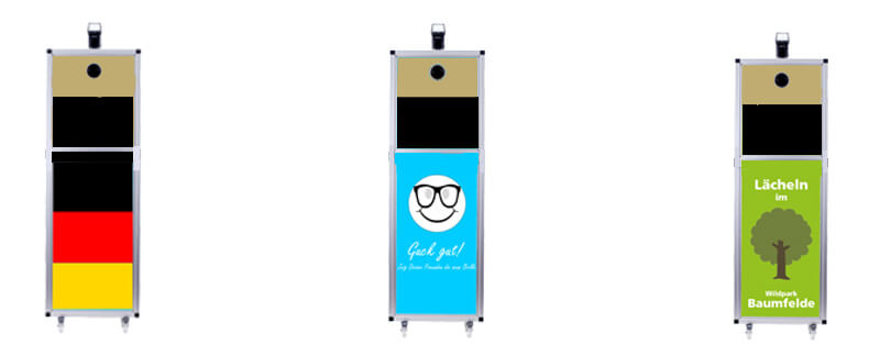 Fotoboxen im alternativen Design.