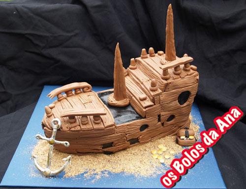 Bolo Barco Antigo Naufragado - Old Shipwreck Cake
