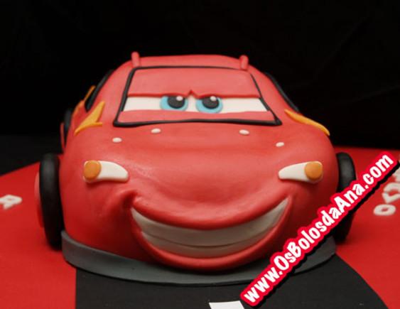 Bolo Carro Faisca McQueen - Lightning McQueen Car