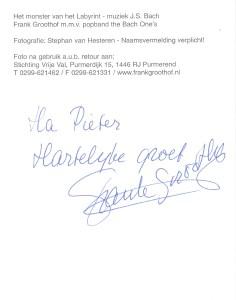 frank groothof back