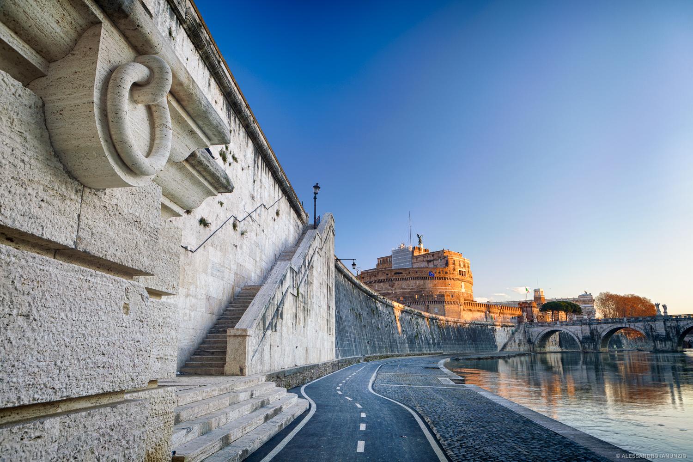 Alba su Castel Sant'Angelo Roma