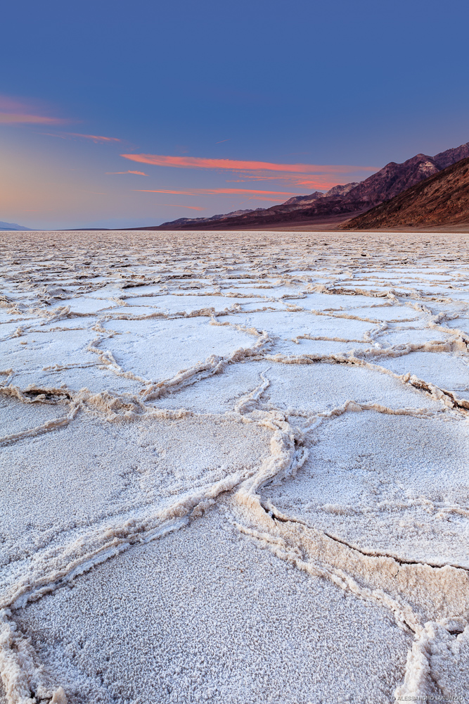 Sunset in the Badwater, Death Valley, CA, USA