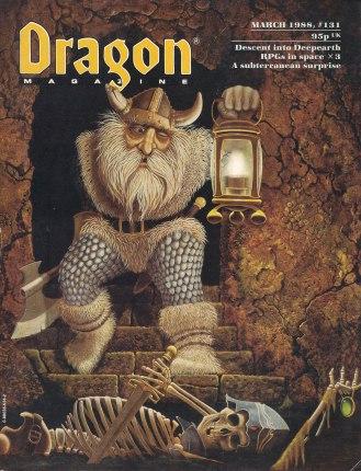 Dragon N.º 131, Março 1988, capa.