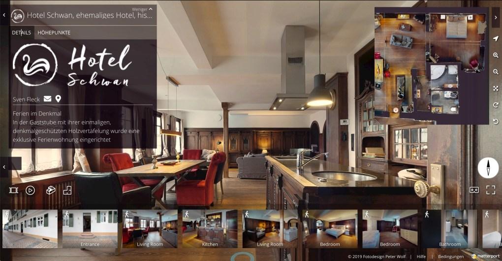 3D Virtual Tour Showcase Ferienwohnung Schwan