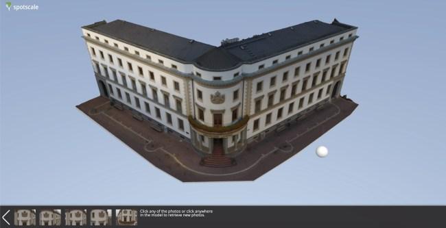 Mesh Model vom Stadtschloss