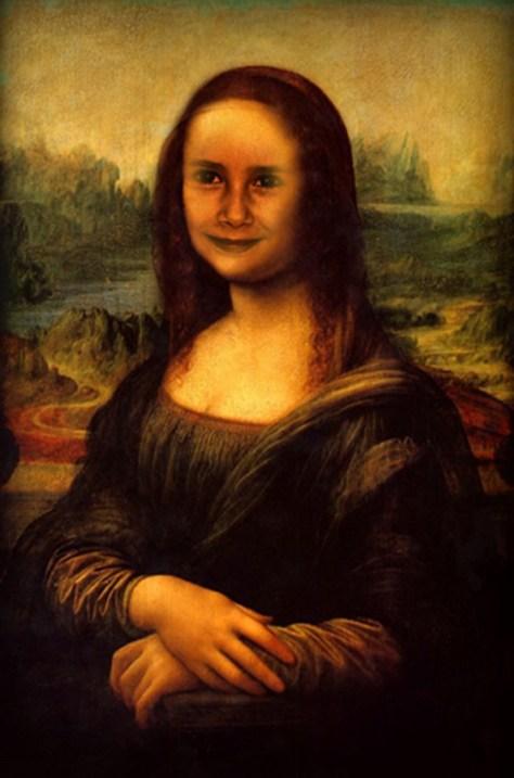 Fotomontaje de la Gioconda de Leonardo da Vinci del Museo del Prado