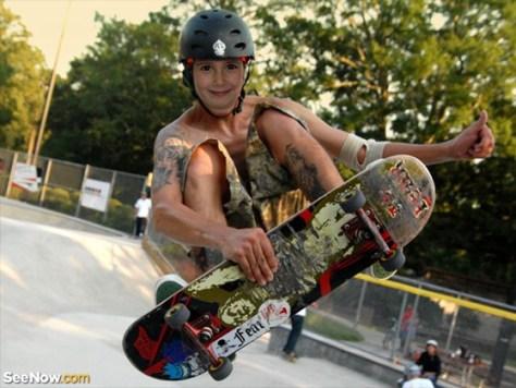 Fotomontaje de skate