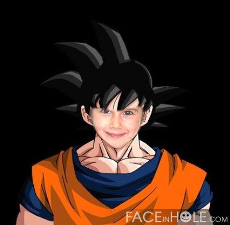 Fotoefecto Manga. Fotomontaje de Goku