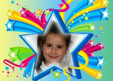 Fotoefectos infantiles con estrellas.