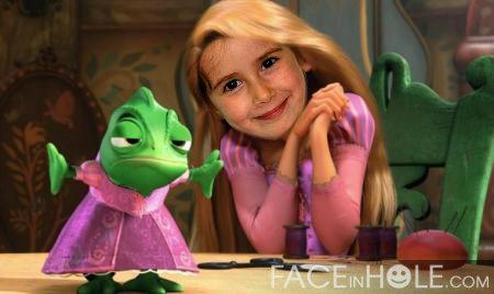 Fotoefectos con Rapunzel
