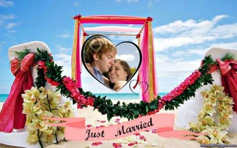 Fotoefectos recién casados.