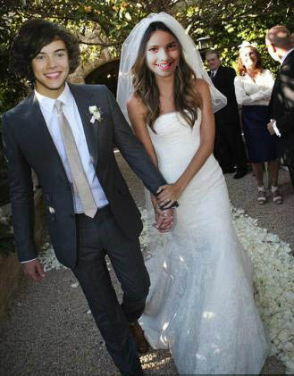 Fotoefecto Harry Styles Wedding.