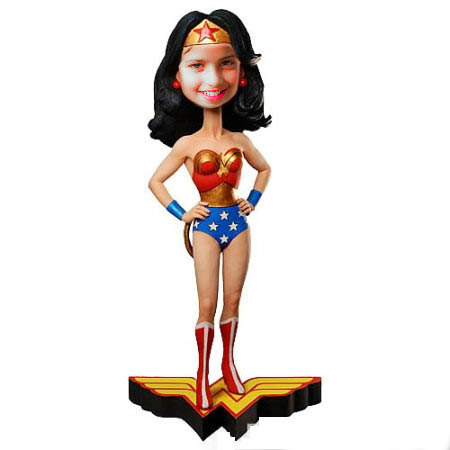 Fotoefecto Wonder Woman.