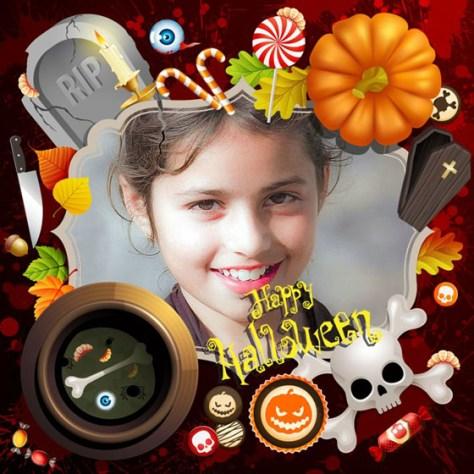 Marcos infantiles de Halloween.