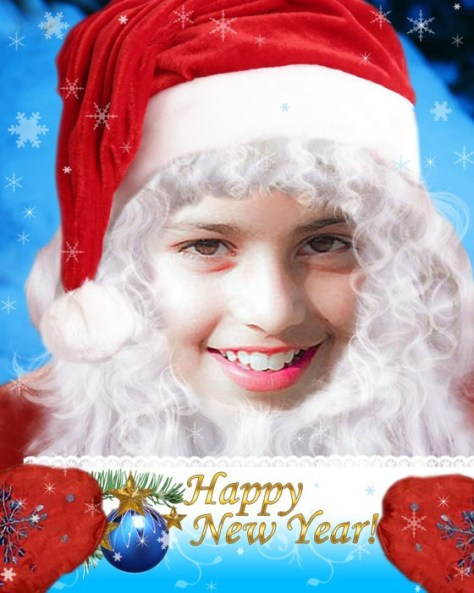 Fotoefectos Santa Claus gratis.