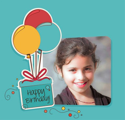 Fotomontajes Happy Birthday con globos