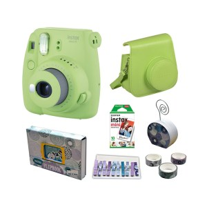 Fujifilm instax mini 9 Instant Film Camera Value Pack {Lime Green}