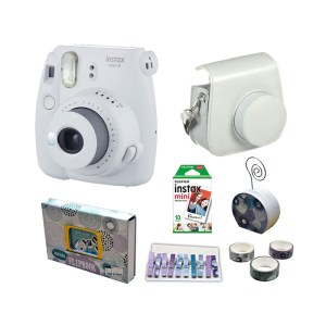 Fujifilm instax mini 9 Instant Film Camera Value Pack {Smokey White}