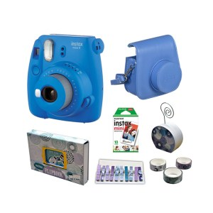 Fujifilm instax mini 9 Instant Film Camera Value Pack {Cobalt Blue}