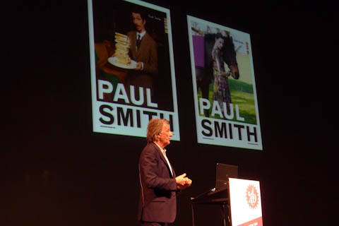 Paul Smith mit zwei Anzeigenmotiven