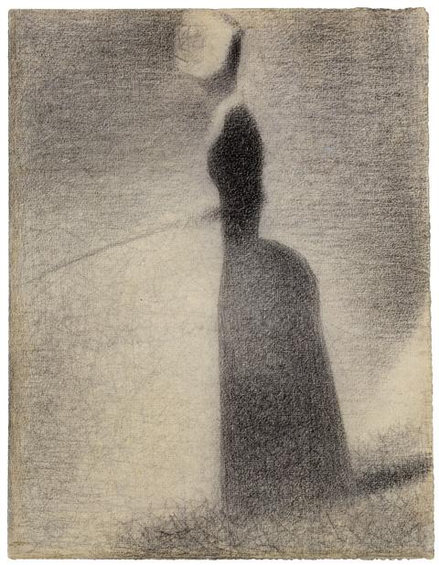 Seurat: La Pecheuse, 1884