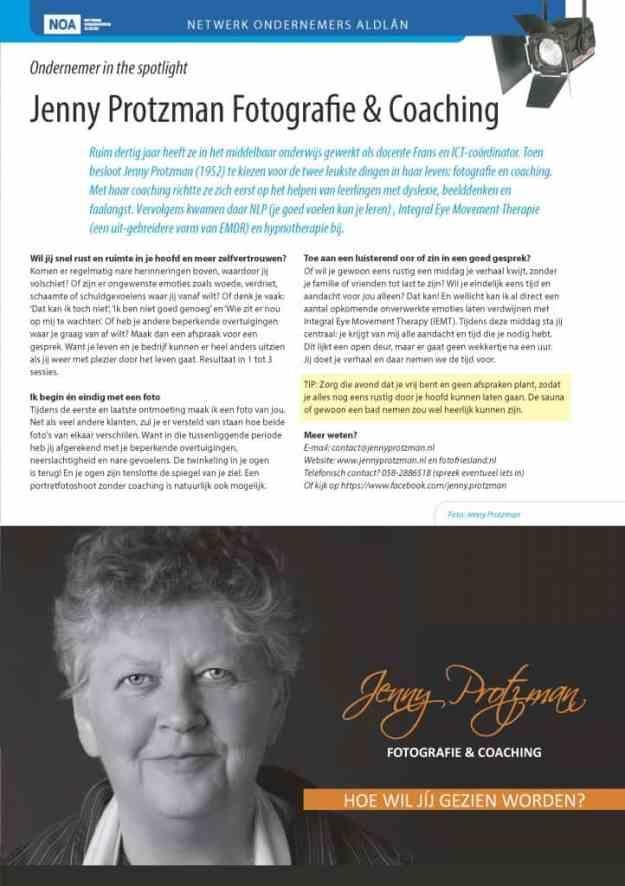 NOA ondernemer Jenny Protzman in de spotlight