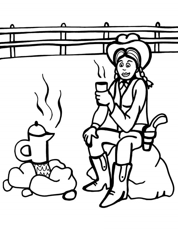 cantina wild west page coloring pages