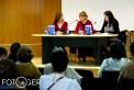 Estefanía (autora del libro) Silvia (concejala de Cultura) y Rosalía (Ediciones Altera)