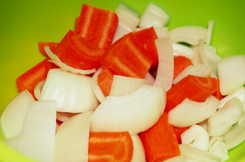 carrots and onion