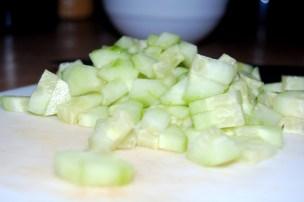 chopped cucumber