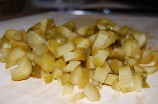 diced pickles