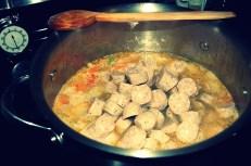 add sausages