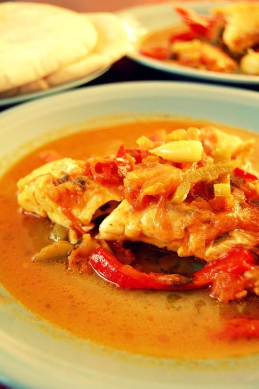 moroccan fish with pita