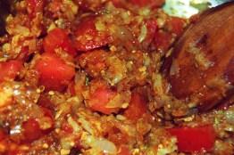 onion garlic tomato and spices