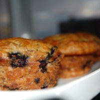 Super Moist Banana Muffins with Blueberries