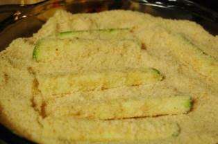 bread the zucchini