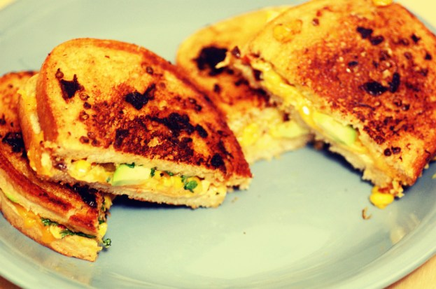 corn avocado grilled cheese