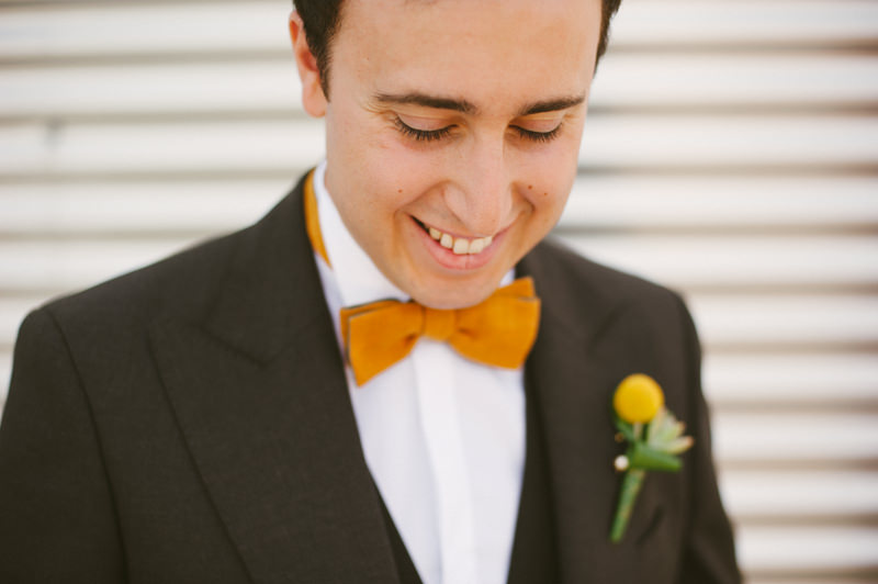 portrait of groom with bowtie